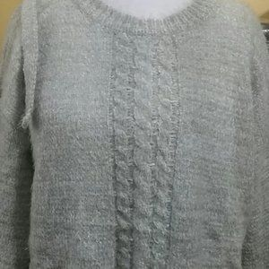POL Sweaters - Lace insert Cable design Sweater